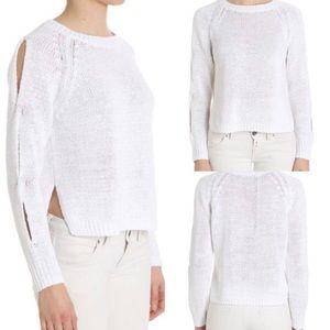 360 Sweater White Cotton Sweater Size XS